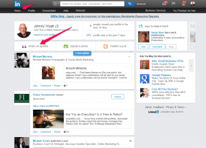 How to share something on LinkedIn